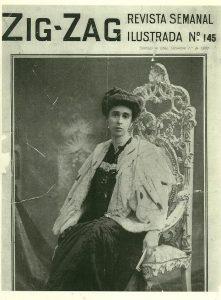 10. La madre de Huidobro, portada revista Zig Zag.