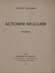 Automne régulier, 1925.