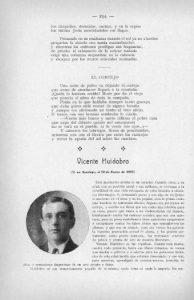 19. Huidobro. antología Selva lírica, 1917