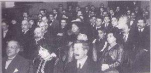 25. Asistentes a la conferencia en el Ateneo, Buenos Aires, 26 de junio, 1916.