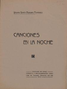 Canciones en la noche, 1913.