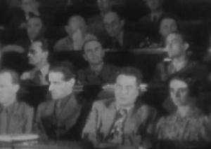 55. VH y César Vallejo en II Congreso, 1937