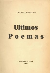 Últimos poemas, 1948.